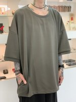 my beautiful landlet / punchthedough knit BIG tee / Gray