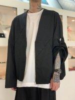 my beautiful landlet / wool twill wide jacket / Black