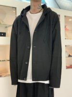 VOAAOV / wool hooded blouson / Black