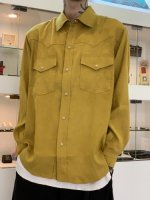 REVIVAL 90% PRODUCTS by Varde77 / POLYNUBUCK SNAP SHIRTS / MUSTARD