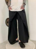 ANREALAGE / wide short wool slacks / Black