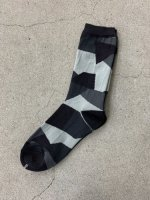 ANREALAGE / patchwork socks / White×Gray
