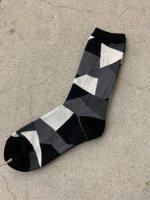 ANREALAGE / patchwork socks / White×Black