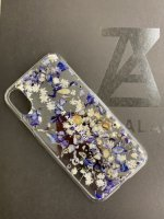 ANREALAGE / ACRYLIC FLOWER CASE for iPhone Xs , X / Blue