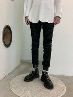 WIZZARD / SKINNY PANTS TUCK COATING / BLACK
