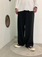 VICTIM / STRETCH WIDE PANTS / BLACK