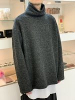 my beautiful landlet / blending knit high necked / Charcoal