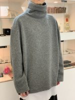 my beautiful landlet / blending knit high necked / Gray