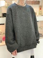my beautiful landlet / blending knit sweatshirt / Charcoal