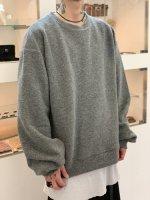 my beautiful landlet / blending knit sweatshirt / Gray