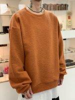 my beautiful landlet / blending knit sweatshirt / Orange