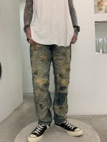 REVIVAL 90% PRODUCTS by Varde77 / SPECIAL DAMAGE&REPAIR DENIM PANTS / BLUE