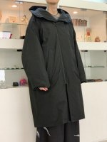 my beautiful landlet / horse cloth down hooded coat / Black