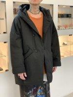 VOAAOV / down hooded midle coat / Black