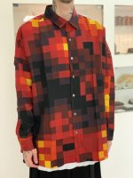 SHAREEF / MOSAIC PT BIG SHIRTS / Red
