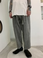 my beautiful landlet / washing corduroy wide easy pants / Gray