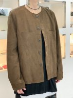 REVIVAL 90% PRODUCTS by Varde77 / NO COLLAR NUBUCK LEATHER JACKET / DARK BROWN