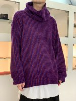 SHAREEF / MOLE STRIPE PULL OVER RE-NECK / Red