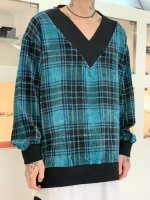 SHAREEF / MOLE CHECK PULL OVER / Turquoise