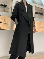 my beautiful landlet / worsted wide long coat / Charcoal