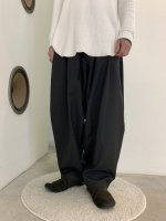 my beautiful landlet / worsted wide easy pants / Charcoal