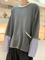 my beautiful landlet / cotton shirt sleeve L/S teek / Charcoal
