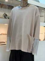my beautiful landlet / cotton shirt sleeve L/S tee / Pink