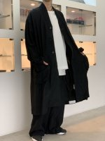 VOAAOV / linen rayon big coat / Black