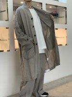 VOAAOV / linen rayon big coat / Gray