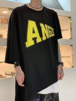 ANREALAGE / SIDE ANGLE PRINT TEE SHIRT / Black