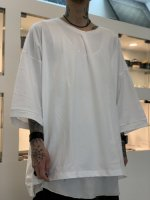 my beautiful landlet / cotton big tee / White