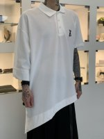 ANREALAGE / SIDE ANGLE POLO TEE SHIRTS / White