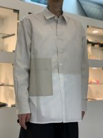 WIZZARD / BICOLOR SHIRT / NATURAL×OFF WHITE