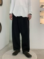 TROVE / DENIM WRAP PANTS / BLACK