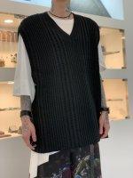 glamb / Oversize knit vest / Black