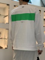 VICTIM×MINE / L/S LINE CUTSEW / WHITE×GREEN ※在庫はお問い合わせ下さい