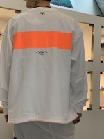 VICTIM×MINE / L/S LINE CUTSEW / WHITE×ORANGE ※在庫はお問い合わせ下さい