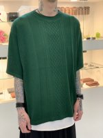 Iroquois / 280104:C/R CABLE KNIT / GREEN