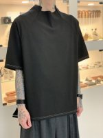 P.E.O.T.W AG / MOCK NECK TEE / Black