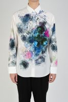 <img class='new_mark_img1' src='https://img.shop-pro.jp/img/new/icons34.gif' style='border:none;display:inline;margin:0px;padding:0px;width:auto;' />LAD MUSICIAN / DECHINE FLOWER STANDARD SHIRT / WHITE