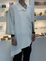 ANREALAGE / SIDE ANGLE STAFF PASS EMBROIDERY SHIRT / White