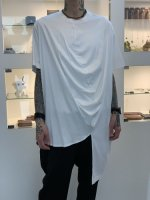 ANREALAGE / SHORT SLEEVE BALL CUT SEW / White