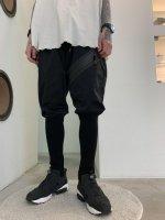 SIVA / JIP-P LEG WARMER TROUSERS / BLACK