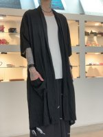 SUSPEREAL / gaze summer gown coat / Black