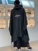 SUS / rain poncho coat / Black