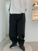 glamb / Wide balloon chino pants / Black