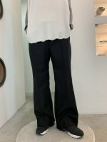VOAAOV / washable wool boot cut pants / Black