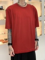 WIZZARD / BASIC PLAIN T-SHIRT / RED