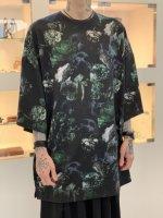 LAD MUSICIAN / 30/2 T-CLOTH FLOWER SKULL S/BIG / GREEN