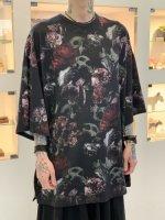LAD MUSICIAN / 30/2 T-CLOTH FLOWER SKULL S/BIG / RED
